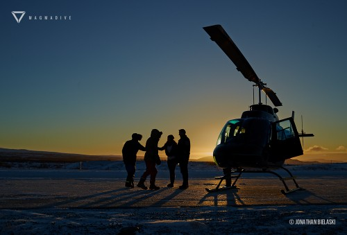 Heli Diving in Iceland with Magmadive