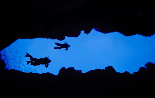 Diving Between The Tectonic Plates in Iceland.